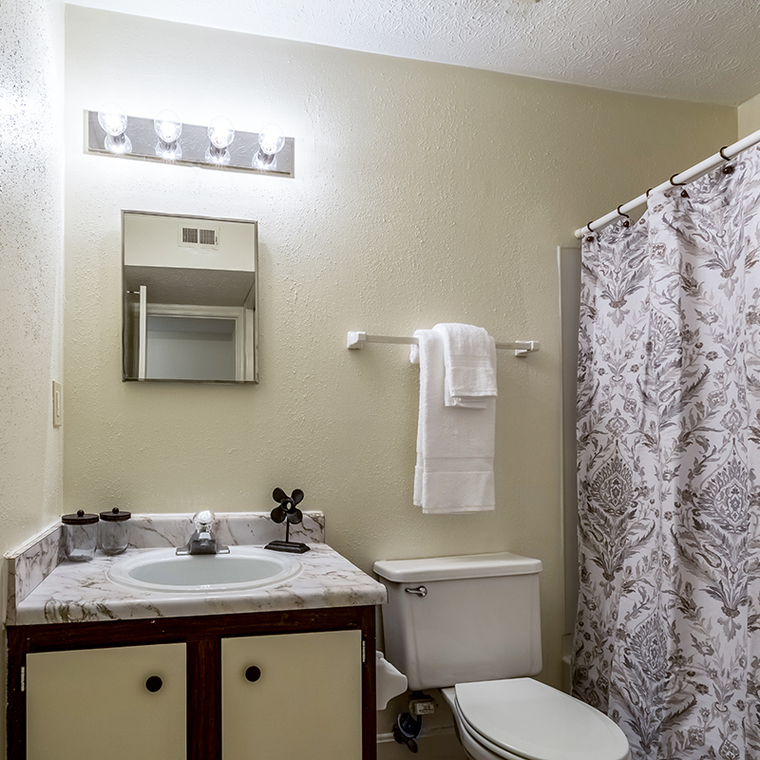 Linen closet in bathrooms