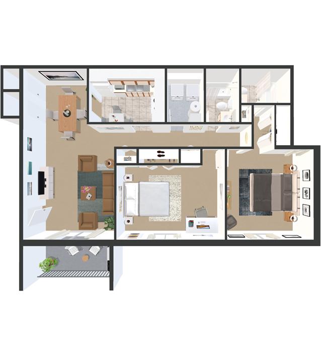 Floor Plan  The Devonshire Apartments Louisville KY